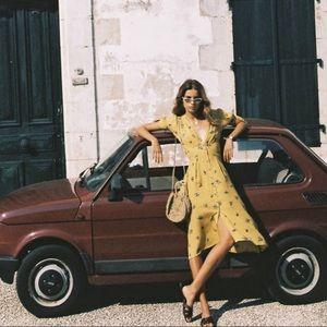 NWT Faithfull The Brand Billie Midi Dress Dolores
